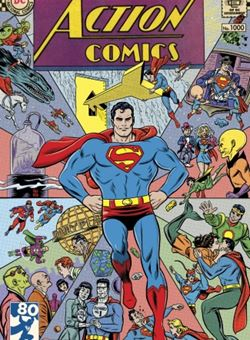 Action Comics #1000 1960s Variant Cover Edition Cover Michael Allred (April 2018) Superman