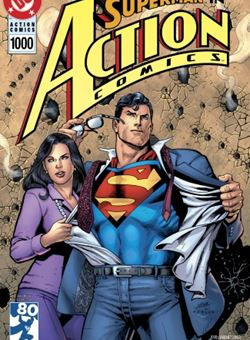Action Comics #1000 1990s Variant Cover Edition Cover Dan Jurgens (April 2018) Superman