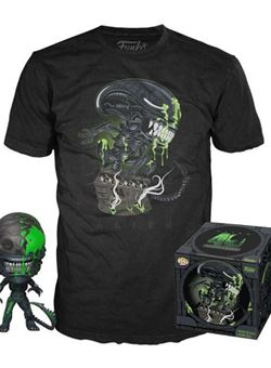 Alien Xenomorph 40th Aniversario Heo Exclusive Set Pop y Camiseta talla L