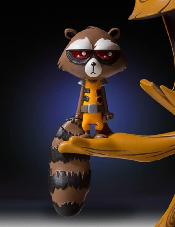 Animated Statue: Groot and Rocket Raccoon (Skottie Young)