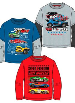 Camiseta Hot Wheels coches