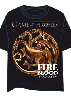 Camiseta Juego De Tronos Targaryen Fire And Blood Adulto