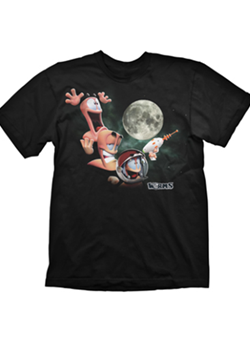 Camiseta Worms Three Worms Moon M/C