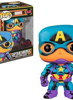 Capitan America Funko Pop 10 cm Nº648 Marvel Black Light Special Edition