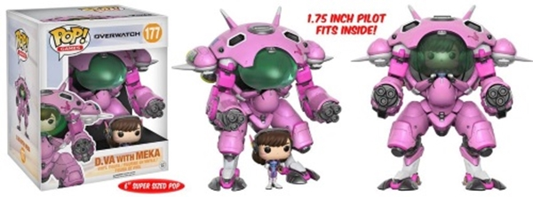 D.VA & Meka Funko Super Sized Pop Overwatch 15 cm Nº 177