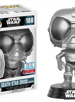 Death Star Droid (White) Funko Pop 10 cm Rogue One Fall Con Exclusive NYCC 2017 Nº 188