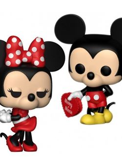 Disney Pack de 2 Funko Pop Mickey & Minnie 10 cm
