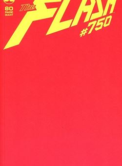 Flash #750 Variant Blank Cover (March 2020) Red Cover