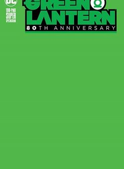 Green Lantern 80Th Anniversary 100 Page Super Spectacular Blank Variant Cover (June 2020)