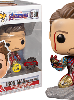 I Am Iron Man Funko Pop 10 cm Nº 580 Special Edition GITD Avengers: Endgame
