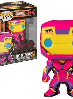 Iron Man Funko Pop 10 cm Nº649 Marvel Black Light Special Edition