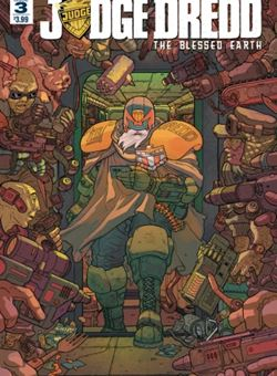Judge Dredd Blessed Earth Nº3 Cover Ulises Farinas (July 2017)