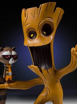 Marvel Animated Statue: Groot and Rocket Raccoon (Skottie Young)