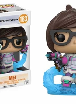 Mei Snowball Colour Limited Funko Pop Vinyl Overwatch 10 cm Nº 183