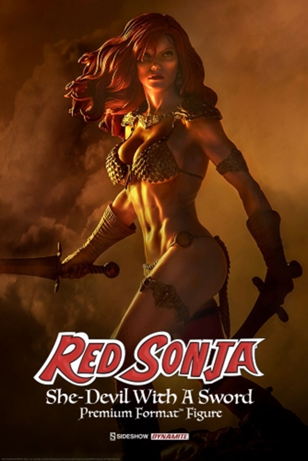 Red Sonja She-Devil with a Sword Premium Format Sideshow Collectibles 51 CM