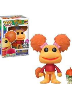Red with Doozer Funko Pop 10 cm Nº519 FLocked Exclusive Fraggle Rock