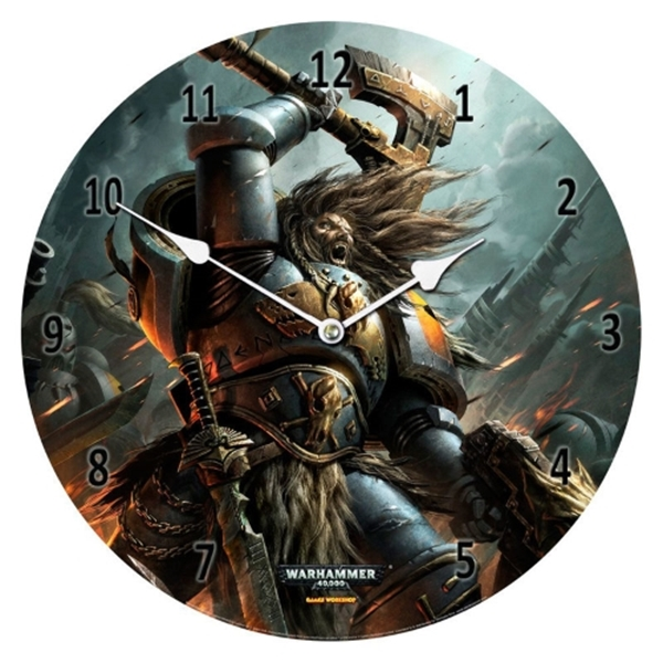 Reloj pared Space Wolves Warhammer 40,000 cristal