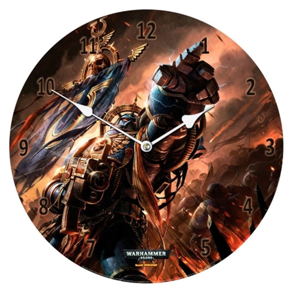 Reloj pared Ultramarines Warhammer 40,000 cristal