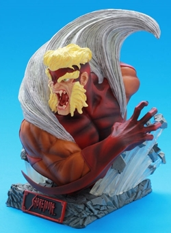Sabretooth (Dientes de Sable) busto Art Asylums Rogues Gallery X-Men Resina