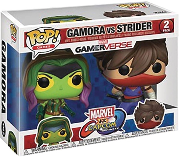 Set Gamora vs Strider Pop 10 cm Marvel Vs Capcom Gamerverse