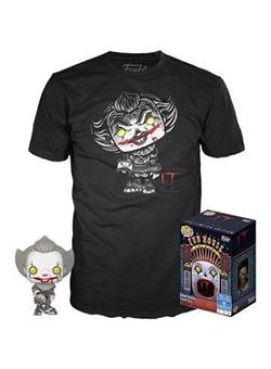 Stephen King's It Pennywise heo Exclusive Set Pop y Camiseta talla L
