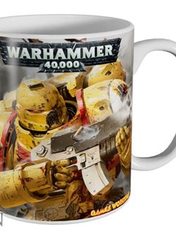 Taza Imperial Fists Warhammer 40,000 ceramica
