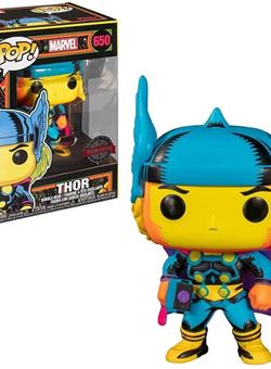 Thor Funko Pop 10 cm Nº650 Marvel Black Light Special Edition