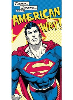 Toalla Superman DC American Way